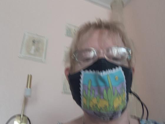 Maske mit Kinnkeil