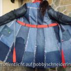 Mantel Johanna aus Jeans (Probemantel) von hinten.