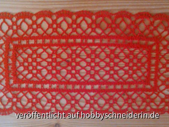 Torchon-Deckchen aus der Klöppelfibel