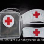 Krankenschwesternhäubchen mit passender Tasche für Pflaster und Co.