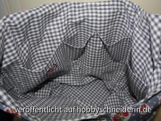 Tasche - Von innen mit selbst kreierter Innentasche. :)