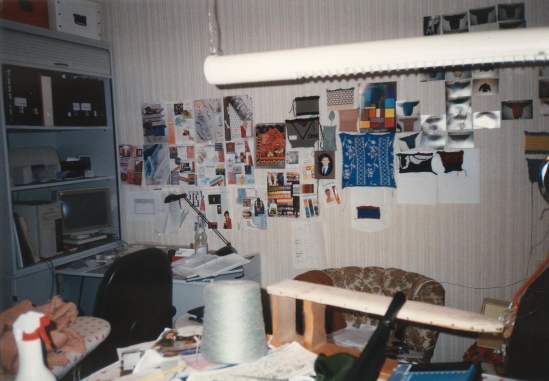 1992- Mein erstes wirkliches Arbeitszimmer. Vorher standen die Maschinen immer im Esszimmer !