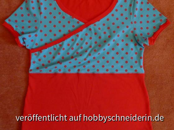 Shirt in Wickeloptik, Schnitt gebastelt aus einem Ottobre T-Shirt