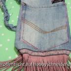 Aus alter Jeans wird Tasche zum Hippiekostüm