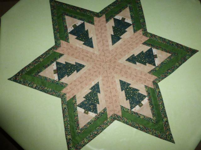 Stern mit Tannen Tischdecke ca. 80 cm Durchmesser