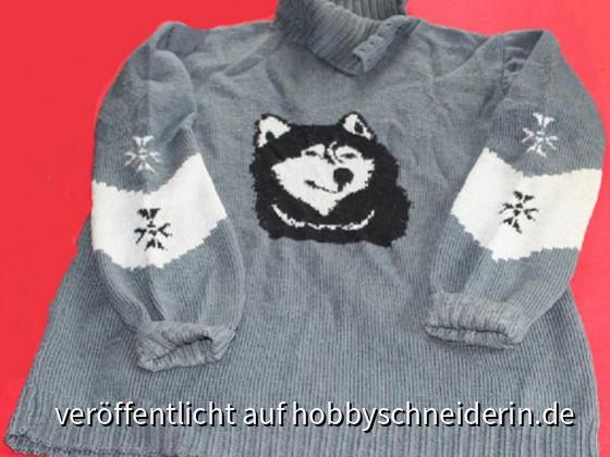 Dieser Pullover hat mich jahrelang auf den Schlittenhunde-Rennen begleitet.