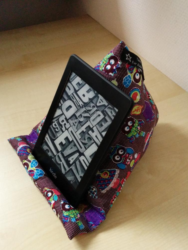 Sitzsack für e-Book-Reader
