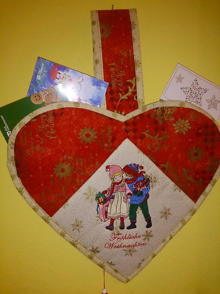 Wandtaschen für die Weihnachtspost