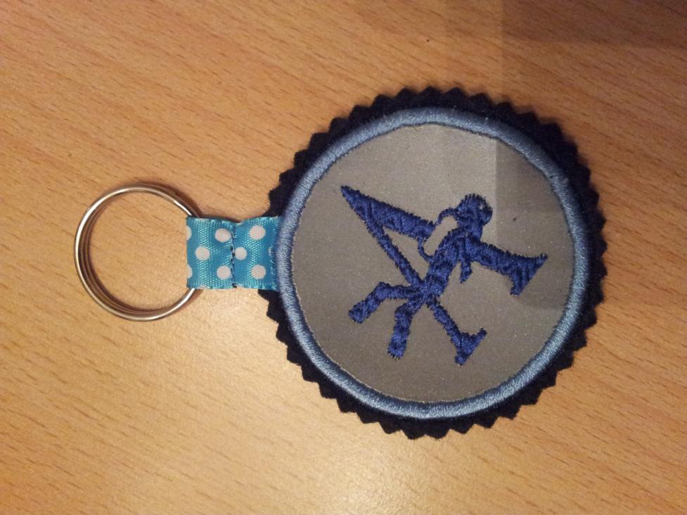 Logo der Tauchgruppe Aquarius als Schlüsselanhänger.