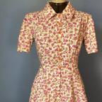 1940er Kleid aus einem original Stoff