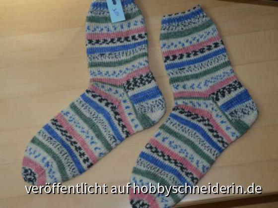 Pastellige Socken Gr 36-37