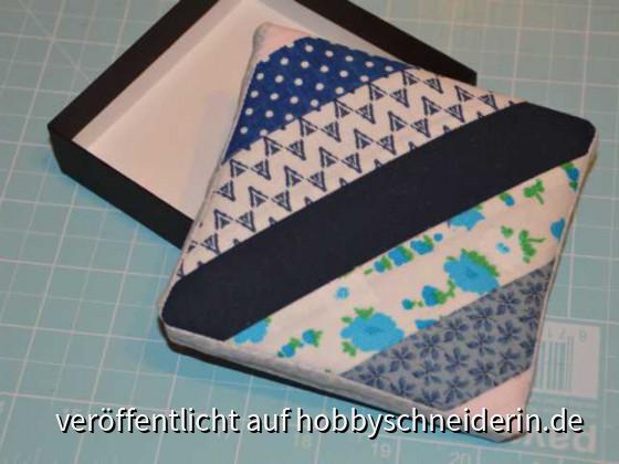 Schachtel - mit Patchwork bezogen