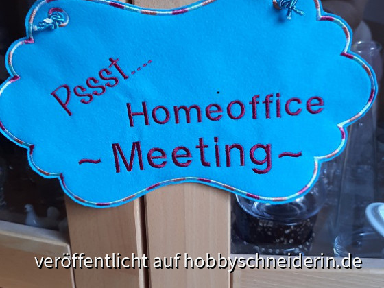 Schild für Home office