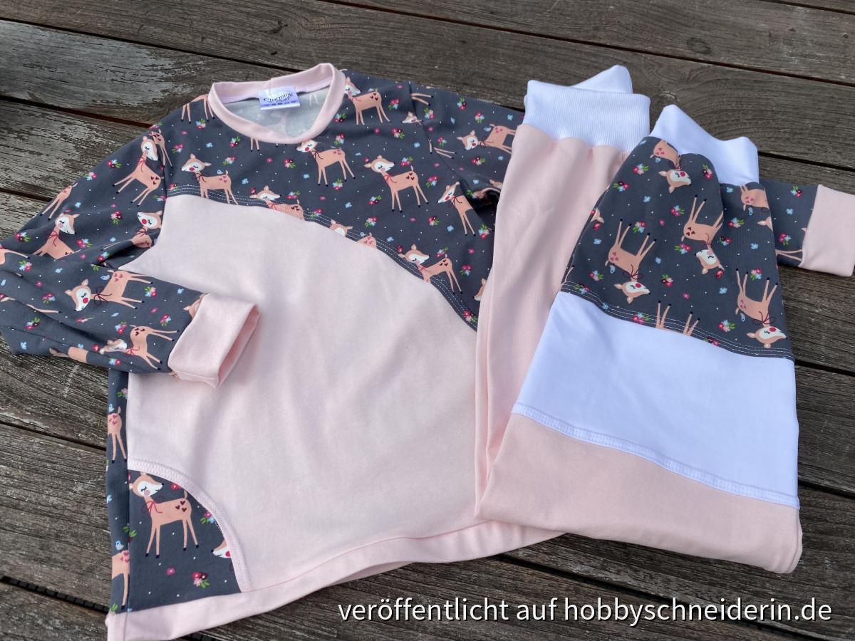 Rehe Schlafanzug für die Murmel - Gr 122-128