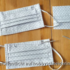 Behelfs-Mundschutz-Masken mit herausnehmbarem Flachdraht