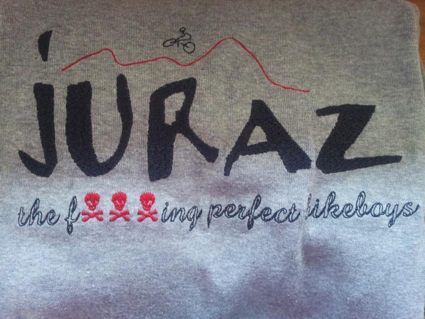 Logo einer Bikegruppe. Selbst digitalisiert und auf T-Shirts gestickt.