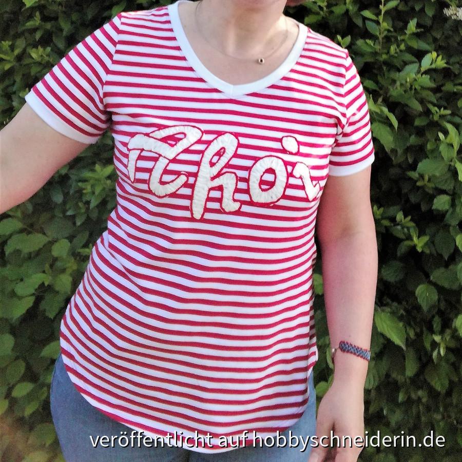 Ahoi - Shirt mit Kordelstickerei