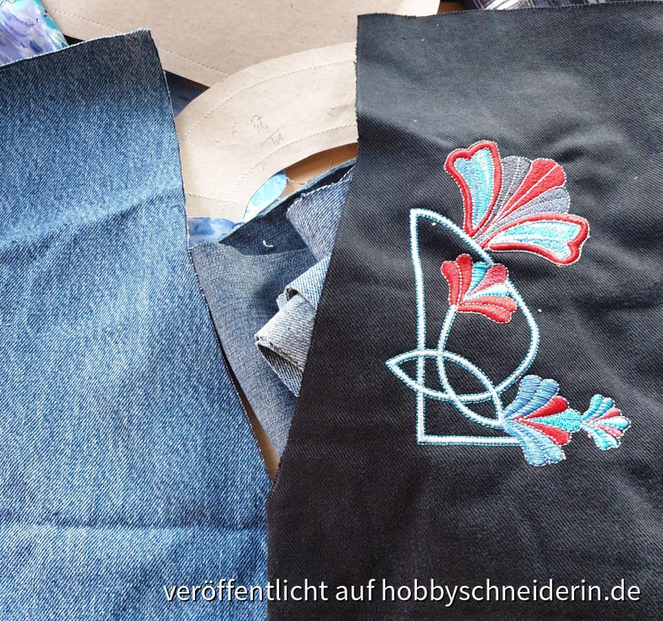 Zuschnitt Jeansjacke