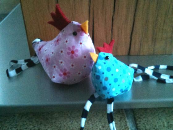Genähte Hühner