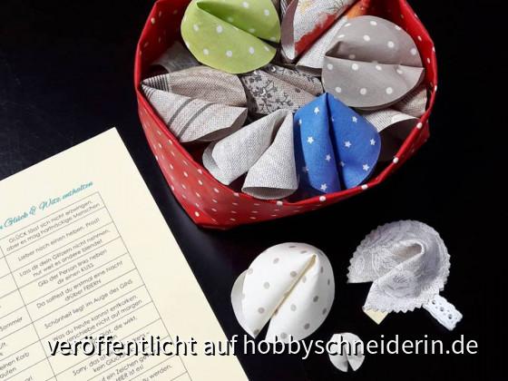 Glückskekse aus beschichteten Stoffen leicht selbstgemacht