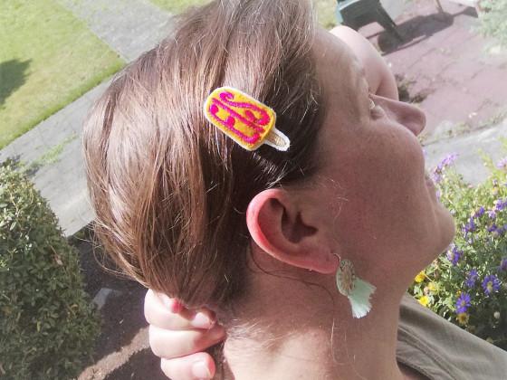 Haarspange Eis am Stiel