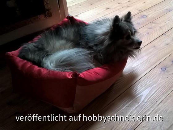 selbstgenähtes Hundebett