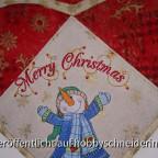 Wandtasche für Weihnachtspost