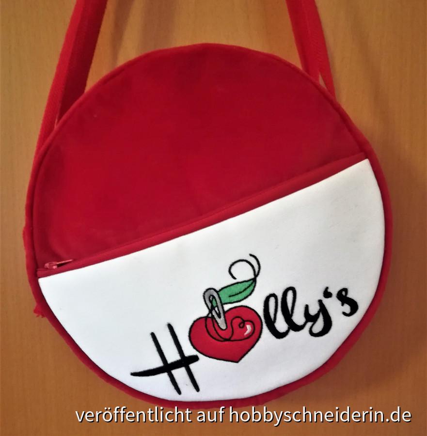 Tasche aus rotem Samt