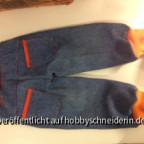 Kindehose aus alten Jeans von Opa - hinten - (Ottobre 4/2010 Nr 11)