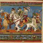 Ausschnitt aus dem Fürstenzug in Dresden