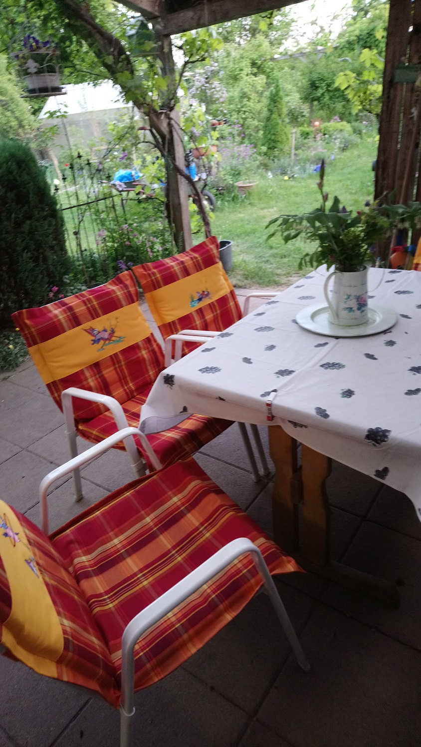 Bezüge für die Gartenstühle