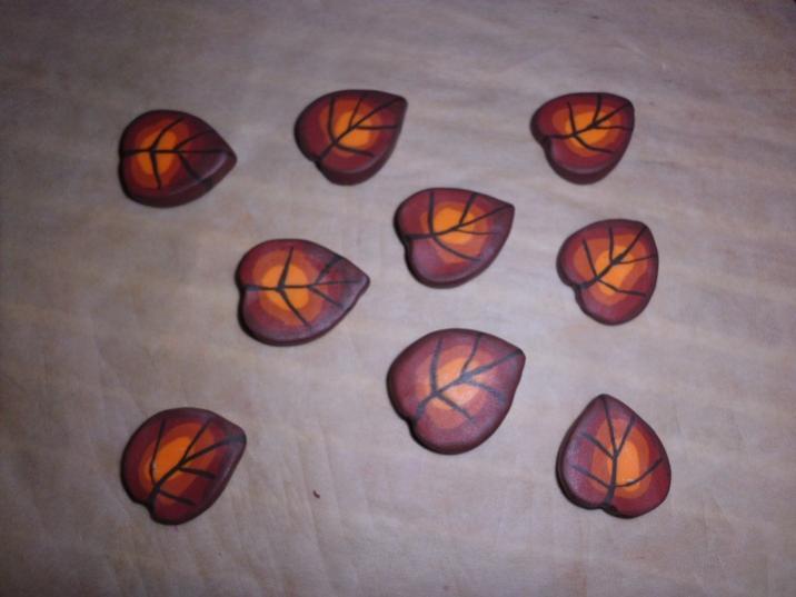 Fimo-Blätter