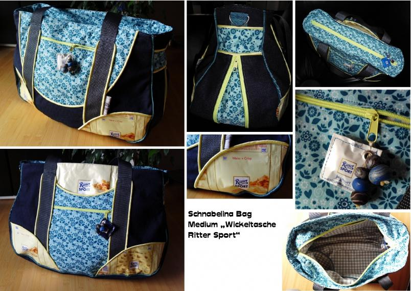 Schnabelina Bag medium mit Zip-It, als Wickeltasche.