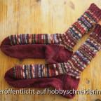 Socke mit Sparvorfuß