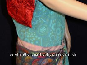 Hüfttasche, eine Kombination aus Filzen und Nähen