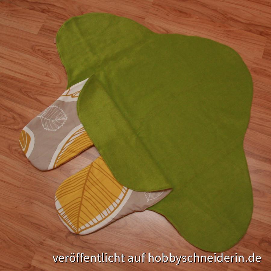 Einschlagedecke - grün