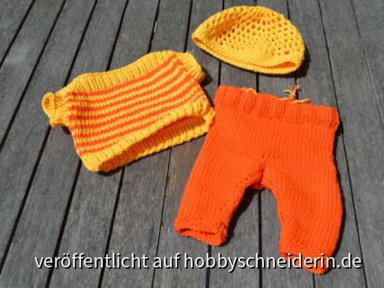 Puppenkleidung für den Sommer