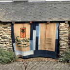 Kaffeesäcke - Vorhang