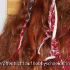 Haarschmuck aus Filz im Lockendesign