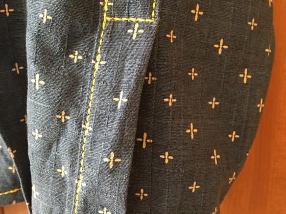 Herrenhemd aus japanischen Stoff/ Westernhemd