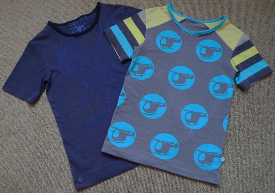 2 T-Shirts Gr. 134-140, SM Ottobre 3-2011-24 Monster Car (slim fit)