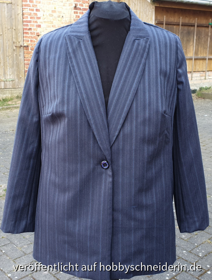 Blauer Blazer, Burda style 3/2020
