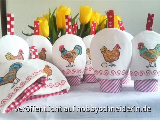 Frohe Ostern wünsche ich Euch Hobbynähern und Hobbystickern!