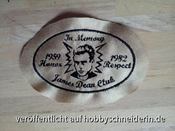 James Dean Aufnäher Oval
