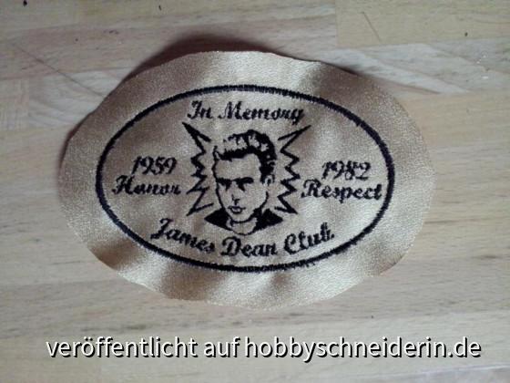 James Dean Aufnäher Oval