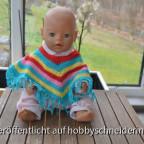 Puppen-Poncho mit Fransen