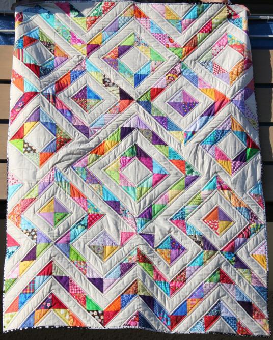 Triangel Quilt - Mein Kuschelquilt fürs Sofa