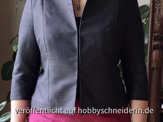 E14 - Kurze Jacke mit Stehkragen vorne - Ceri