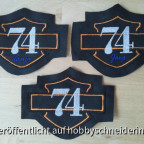 74er Harley Aufnäher