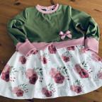 Girly Sweater mit Rosen für die Murmel - Gr. 122
